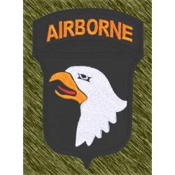 parche bordado, airborne águila