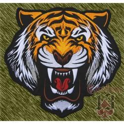 parche bordado para espalda, cabeza de tigre