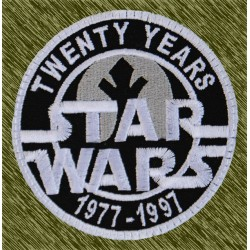 parche bordado, star wars, twenty years