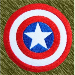 parche bordado, capitán américa