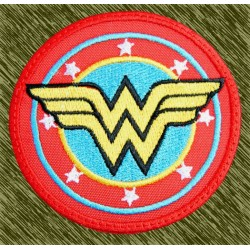 parche bordado, wonder woman