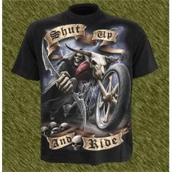 Camiseta dark13, Calla y cabalga