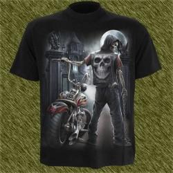 Camiseta dark13, Espera del biker