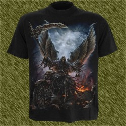 Camiseta dark13, biker reaper