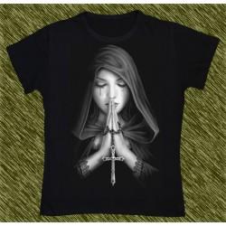 Camiseta Dark13 mujer, rogando por las almas