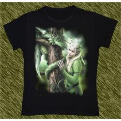 Camiseta Dark13 mujer, dragón del árbol