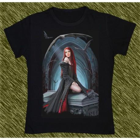 Camiseta Dark13 mujer, esperando la hora