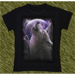 Camiseta Dark13 mujer, aullido del lobo