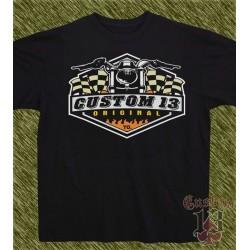 Camiseta negra, custom13 original TO.