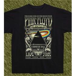 Camiseta negra, Pink Floyd, the dark side of the moon, 1972