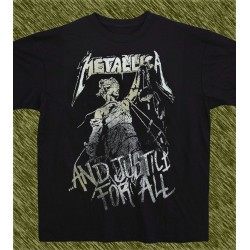 Camiseta negra, Metallica, and justice for all