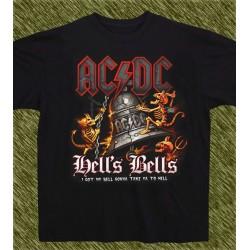 Camiseta negra, AC-DC hell's bell