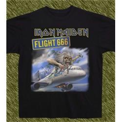 Camiseta negra, Iron Maiden, flight 666