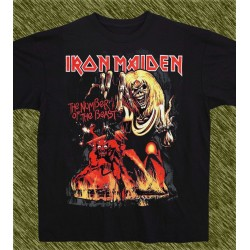 Camiseta negra, Iron Maiden, the number of the beast
