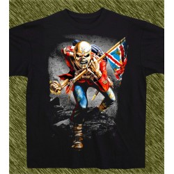 Camiseta negra, eddie, the trooper