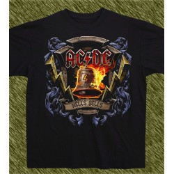 Camiseta negra, AC-DC hells bells new