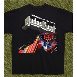 Camiseta negra, Judas Priest, defenders of the faith