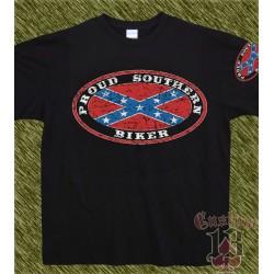 Camiseta negra, proud sputhern biker