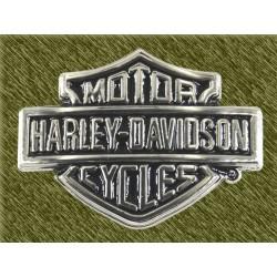 hebilla harley logo cromada