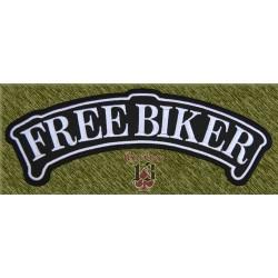 parche bordado para espalda, banda free biker