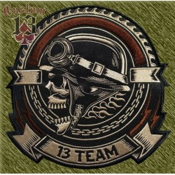 parche bordado para espalda, 13 team