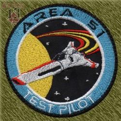 Parche bordado, area 51 test pilot