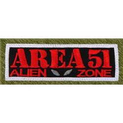 Parche bordado, area 51, alien zone