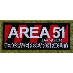 Parche bordado, area 51 danger