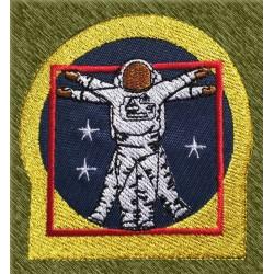 Parche bordado, astronauta