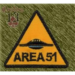 Parche bordado, area 51 triangulo