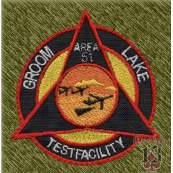 Parche bordado, area 51, testfacility