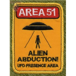 Parche bordado, alien abduction