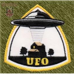 Parche bordado, ufo, abducción