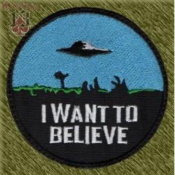 Parche bordado, I want to believe