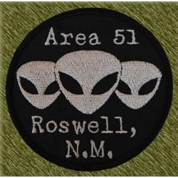 Parche bordado, area 51, roswell n.m.