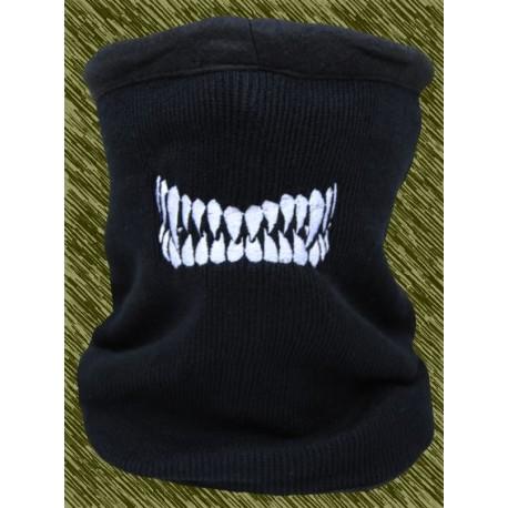braga de forro polar bordada, dientes