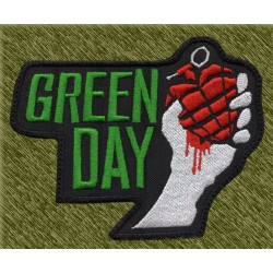 Parche bordado, green day granada