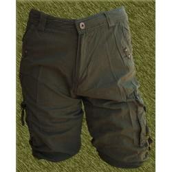 Pantalón corto cargo multibolsillos verde