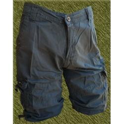 Pantalón corto cargo multibolsillos azulón