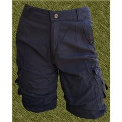 Pantalón corto cargo multibolsillos azul
