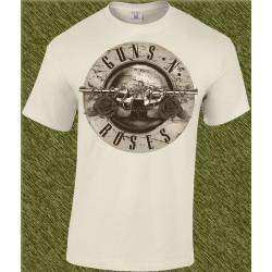 Camiseta beig, guns n roses