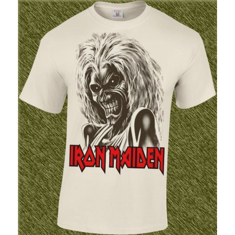 Camiseta beig, iron maiden, killers