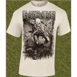 Camiseta beig, iron maiden, trooper