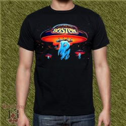 Camiseta negra, boston