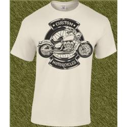 Camiseta beig, custom motorcycles