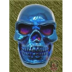 Anillo de acero, calavera azul