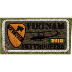 parche bordado, vietnam skytroopers