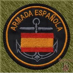parche bordado, armada española bandera