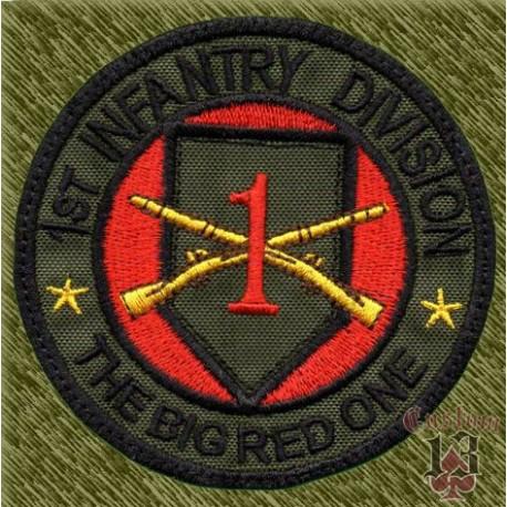 parche bordado, 1st infantry division