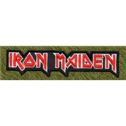 Parche bordado, iron maiden letras